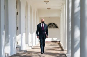 In March 2021, the Quad held its first leaders' summit, opened by U.S. President Joe Biden, shown above. The four countries reaffirmed their commitment to co-operation. (Photo: White House)