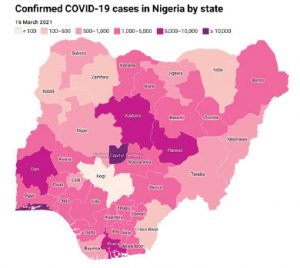 """In mid-April 2021, Nigeria showed excess deaths of about double those officially attributed to the coronavirus — a scant 2,061, with 164,303 testing positive. (""""Excess"""" deaths are those above the numbers reported in comparable months in previous years, and from all causes.) (Photo: Fuadach)"""