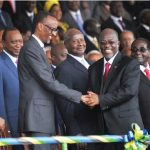 The late autocratic Tanzanian president John Magufuli, shown centre right with Rwandan President Paul Kagame, died of COVID in March. From April 2020, he refused to acknowledge probable coronavirus cases and likely deaths and allowed no testing for the virus. (Photo: Paul kagame photos, flickr)