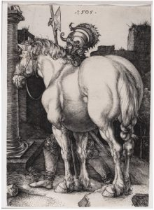 The Large Horse, by Albrecht Dürer (1505, engraving) from The Collectors Cosmos: The Meakins-McClaran Collection at the National Gallery. (Photo: National Gallery of Canada / Ottawa Art Gallery)