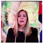 To mark Cuba's National Day, Ambassador Josefina Vidal hosted a virtual celebration. Niagara Falls was lit up in the national colours of Cuba. Ambassador Vidal delivered remarks. (Photo: Ülle Baum)