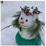 The Latvian Embassy in Canada invited people to build a snowman and to share their photos. More than 200 people participated. This cheerful snowman was made by Inara Eihenbauma, wife of Latvian Ambassador Karlis Eihenbaums. (Photo: Inara Eihenbauma)