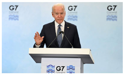 U.S. President Joe Biden and British Prime Minister Boris Johnson signed the New Atlantic Charter just before the G7 Summit. It reaffirmed their commitment to work together and work closely with all partners who share their democratic values. (Photo: ©Karwai Tang/G7 Cornwall 2021)