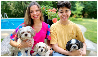 Honduran Ambassador Sofia Cerrato and her son, Alejandro, 16, have been raising money for Freedom Dog Rescue. (Photo: Ülle Baum)
