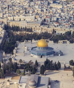 This iconic view of Jerusalem was the site of some of the fighting between Israelis and Palestinians in May, some of which was facilitated by Iran supplying the Palestinians with arms. The Al-Aqsa Mosque, shown here, is considered to be the third holiest site in Islam and behind it is The Dome of the Rock, another sacred Muslim site. (Photo: Andrew Shiva )