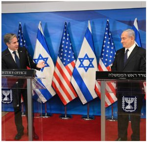 U.S. Secretary of State Antony Blinken and then-Israeli prime minister Benjamin Netanyahu delivered statements to the press at the Prime Minister's Office in Jerusalem, May 25, 2021. (Photo: U.S. Embassy Jerusalem)
