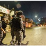 Israeli police patrol the streets of Lod in the central district of Israel during the conflict in May. (Photo: israel police)