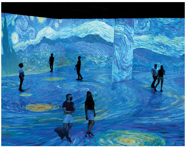 Visitors will virtually be swimming in the paintings of Vincent van Gogh in this immersive digital production by Montreal's Normal Studios, and presented by RBC and Ottawa Bluesfest at Lansdowne Park. (Photo: Beyond van gogh)