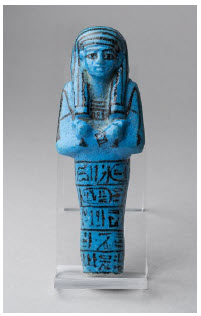 Blue faience, New Kingdom, 19th Dynasty, reign of Seti I (1290–1279 BC) in Queens of Egypt at the Canadian Museum of History. (Photo: Museo Egizio)