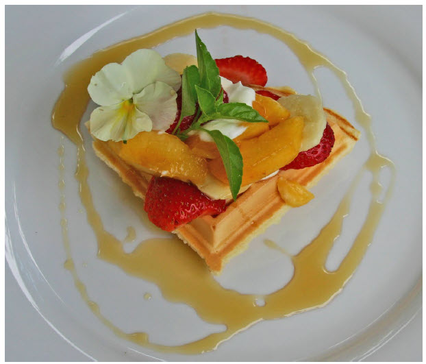 Extra Light Waffles with Summer Fruits are a perfect way to make a breakfast guest feel special. (Photo: Larry Dickenson)