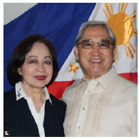 To mark the independence day of the Philippines, Ambassador Rodolfo Robles hosted a flag-raising ceremony at Ottawa City Hall. He's shown with his wife, Nora. (Photo: Ülle Baum)