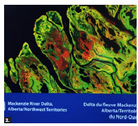 One of the EU exhibit's 24 satellite images is of the Mackenzie River Delta in Alberta and the Northwest Territories. (Photo: Ulle Baum)
