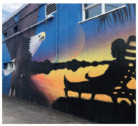 This mural by Shaun McInnis is on the side of the Scotiabank in Westboro. (Photo: Westboro Village Business Improvement Area)